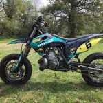 Hygge Performance Supermoto Rev Two Stroke cone pipe exhaust (1)