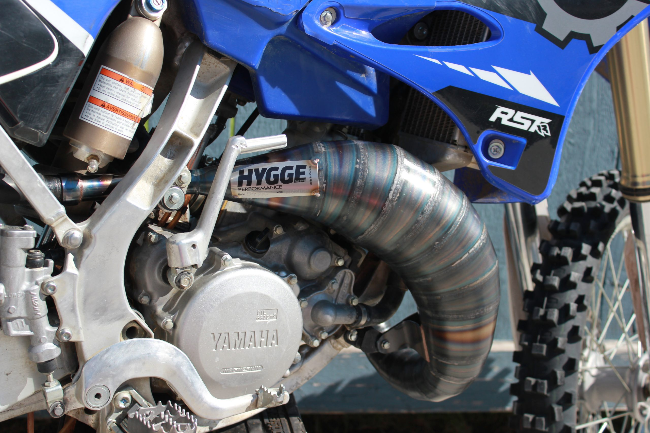 HYGGE PERFORMANCE YZ125 Cone Pipe Two Stroke Exhaust